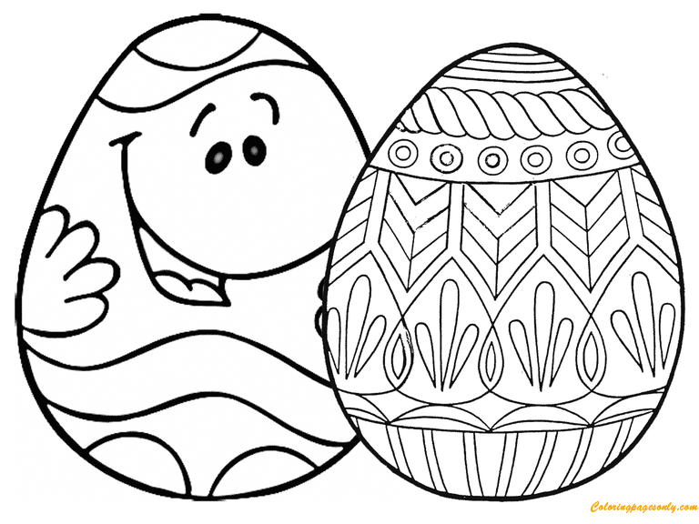 Free Russian Eggs Coloring Pages, Download Free Clip Art, Free ... | 576x768