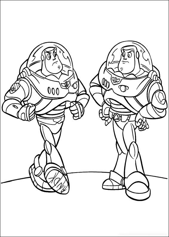 A couples of Buzz Lightyear Coloring Page