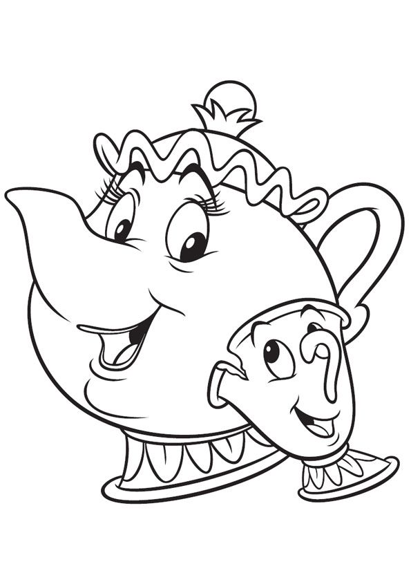 A cup of tea Coloring Pages