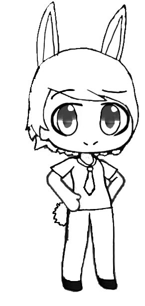 A cute bunny boy in Gacha Life Coloring Page