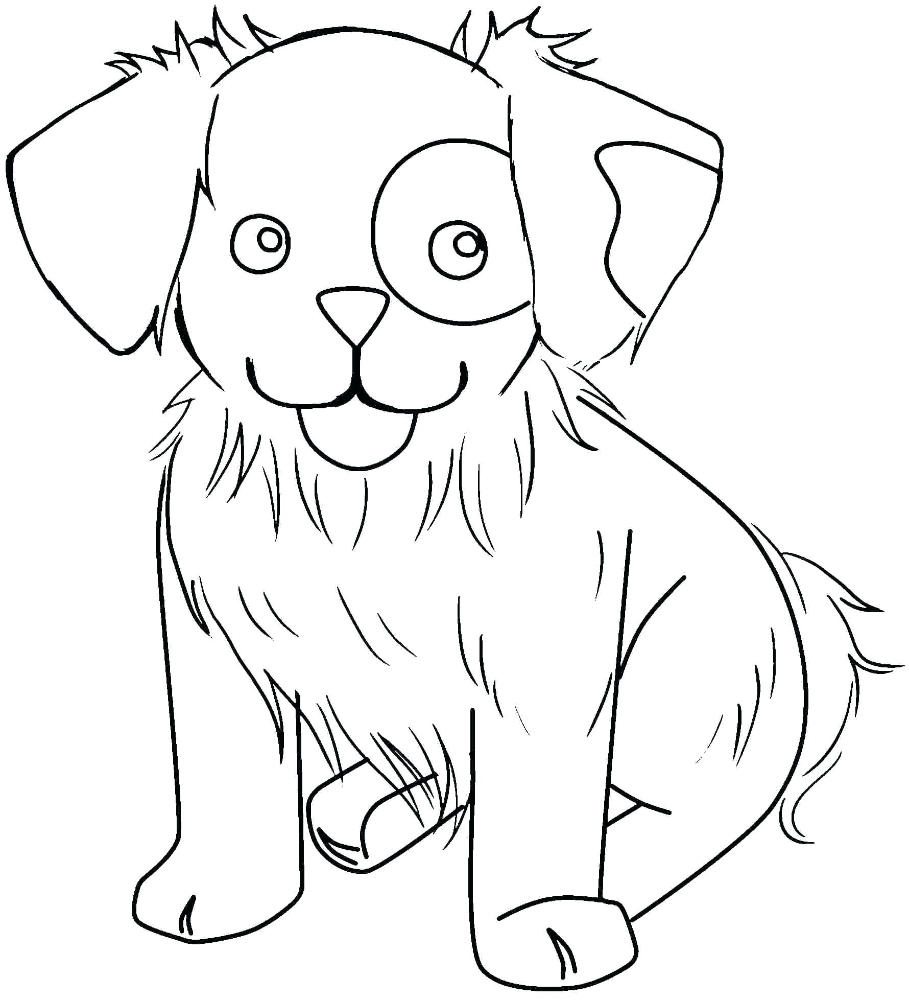 A cute dog Coloring Page