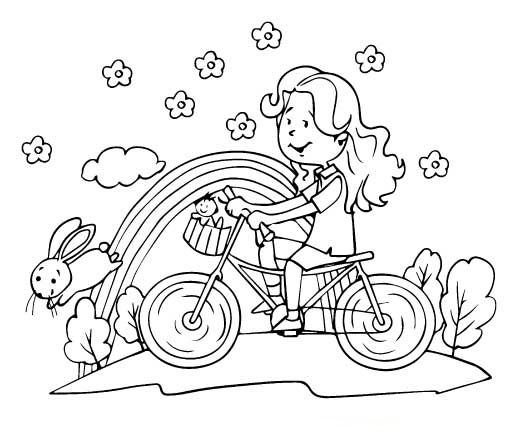 A Cute Girl Riding Bike