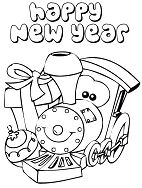 A Cute Little Train Says Happy New Year