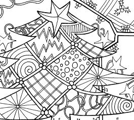 A Decorated Christmas Tree Coloring Page