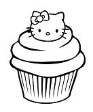 A Delicious Cupcake Coloring Page