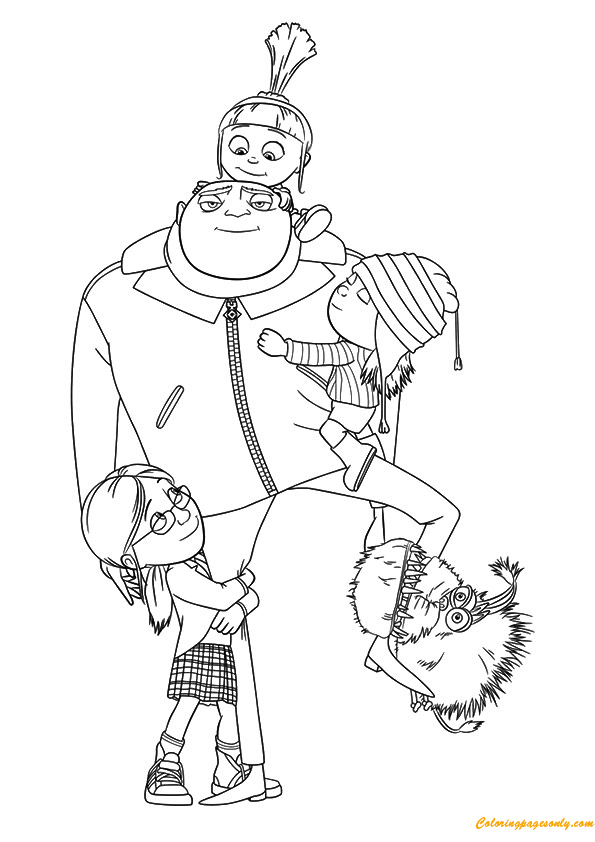 A Despicable Me Coloring Page