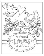 A Friend Loves All Times Coloring Page
