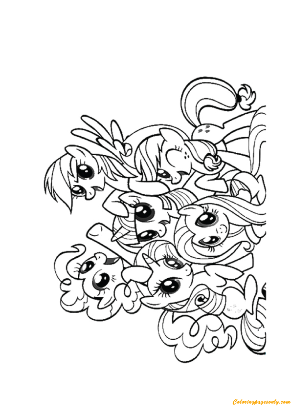 A Friendship Of My Little Pony Coloring Pages