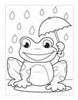 A Frog For Kids Coloring Page