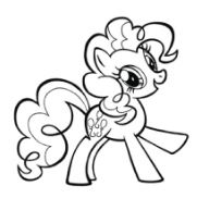 My Little Pony Goldie Delicious Coloring Page