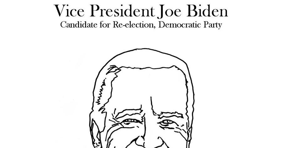 A Half Of Joe Biden Face Coloring Page