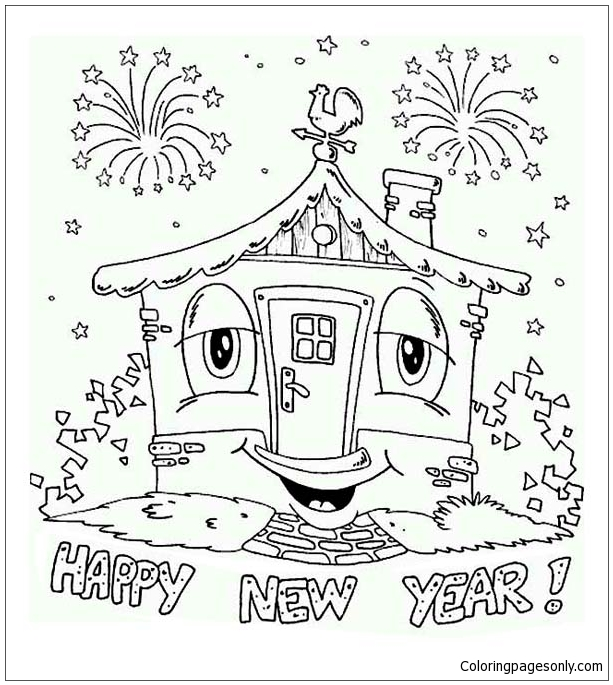 My New House Coloring Page   House colouring pages, Kids christmas ...   685x613