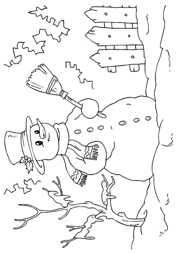 A Happy Snowman