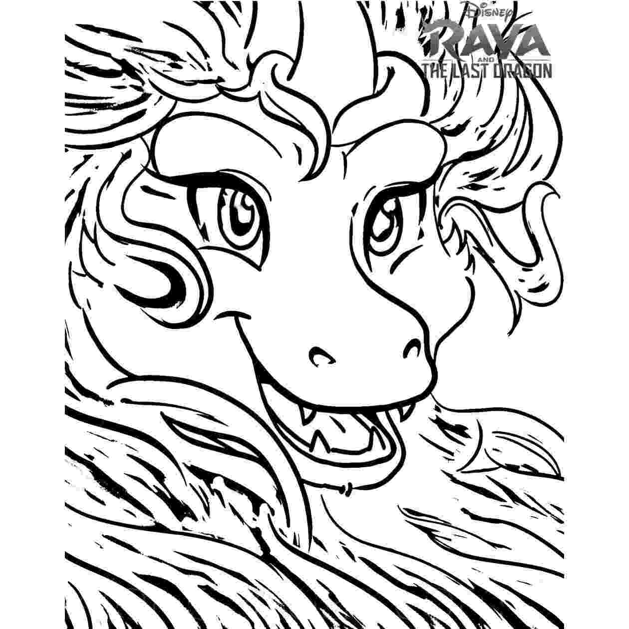 A head of Sisu Detail in Raya and the Last Dragon Animation Coloring Page