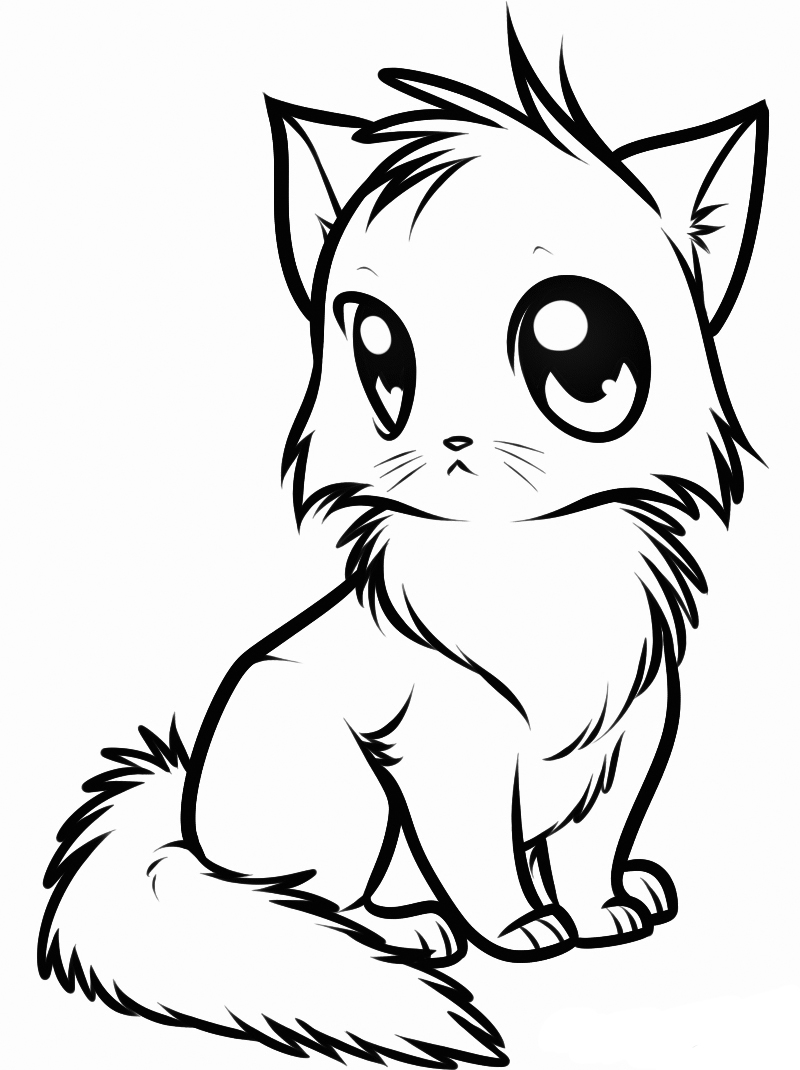 A kitten Coloring Page
