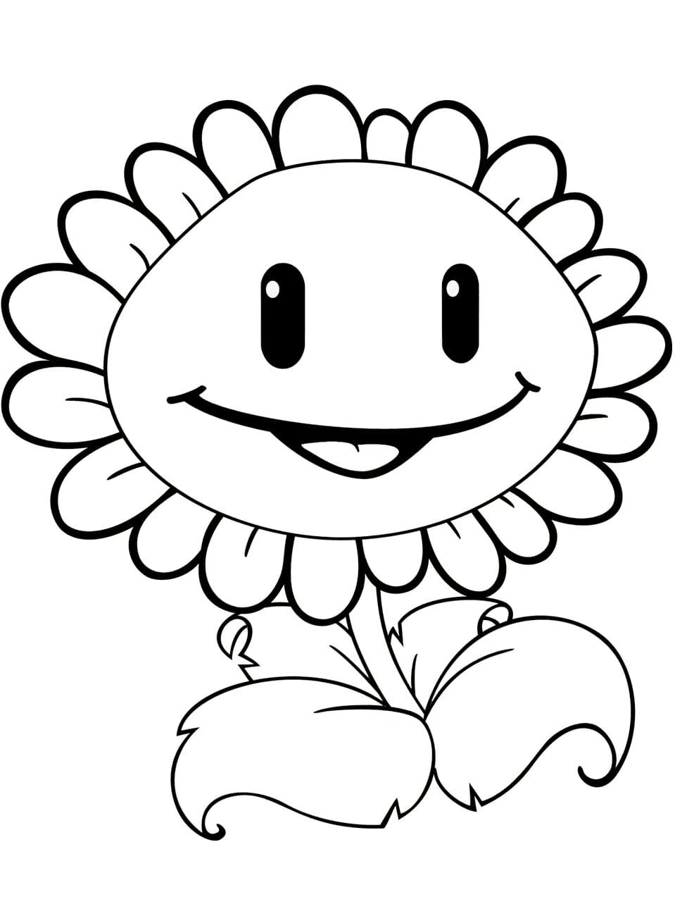A Little Sunflower Coloring Page