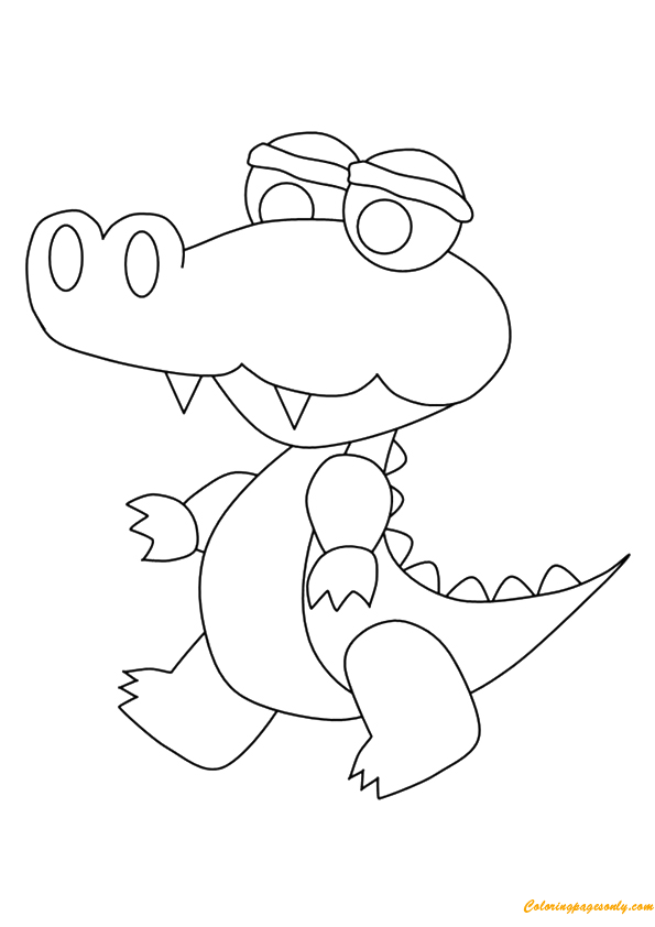 a lovely crocodile coloring page free coloring pages online - Peter Pan Crocodile Coloring Page
