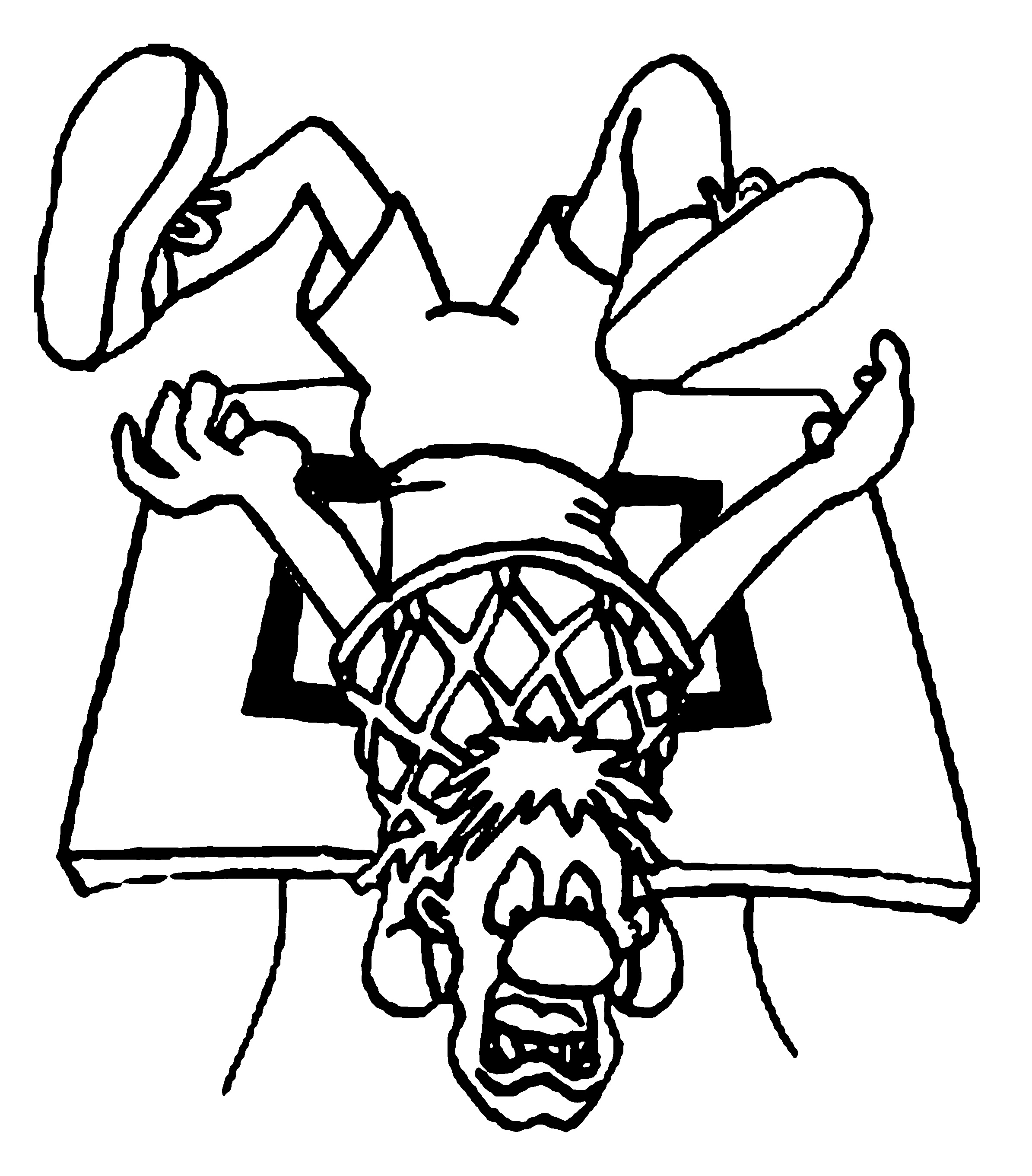 A Man Is In The Basketball Net Coloring Page