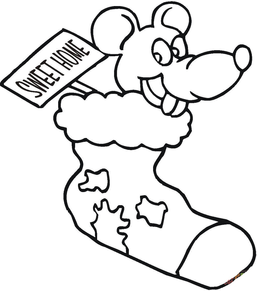 A Mouse in a Stock Coloring Page