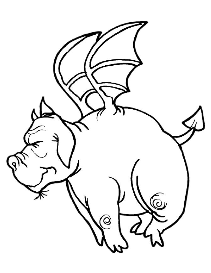 A Pig Dragon Coloring Page