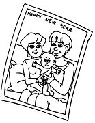 A Portrait Of Family Celebrating New Year