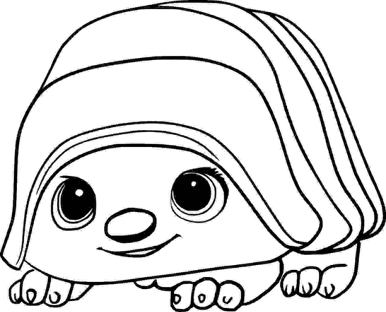 A pug hybrid Tuk Tuk Coloring Page