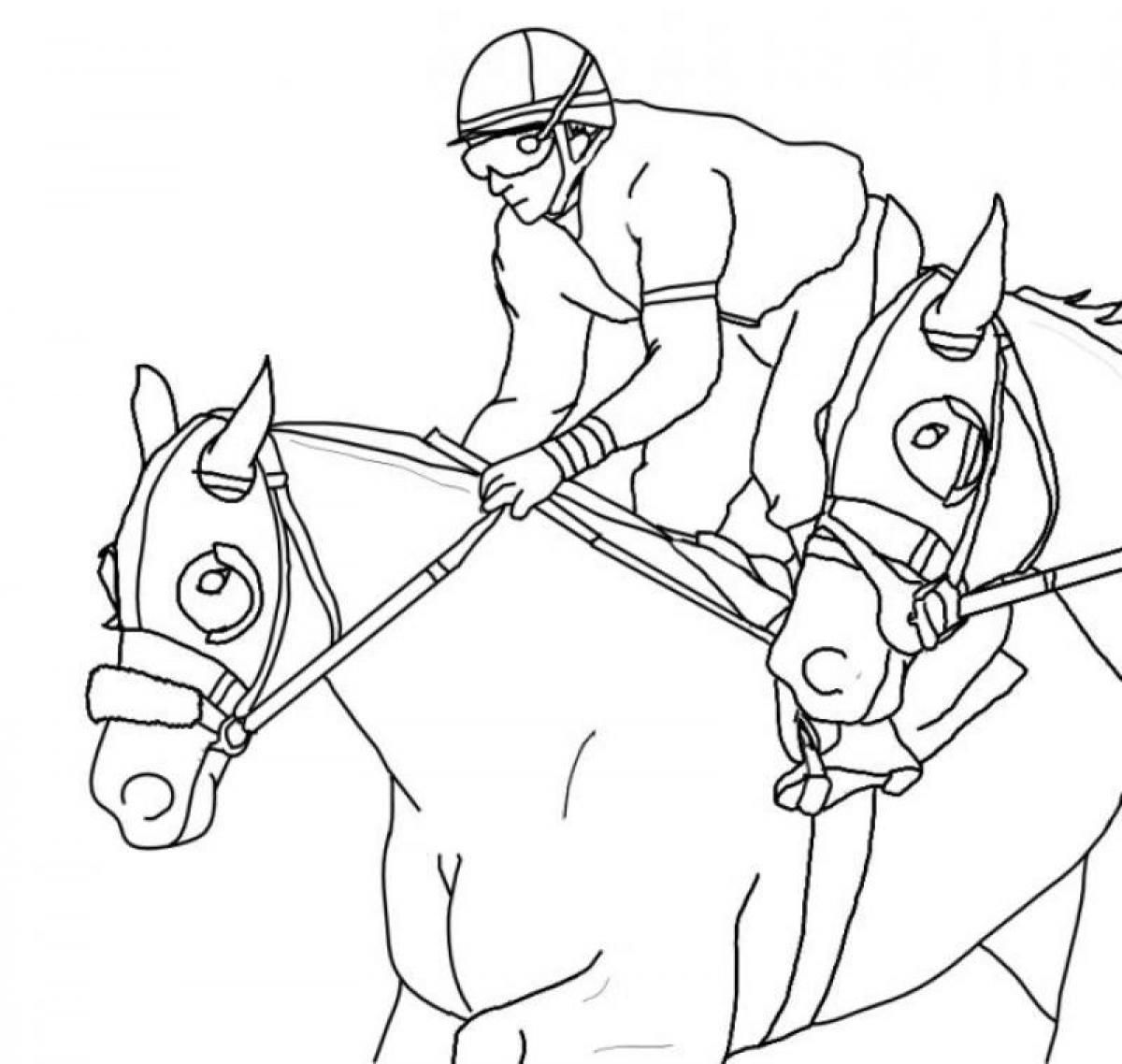 A Rider and a Barbie Horse Coloring Page