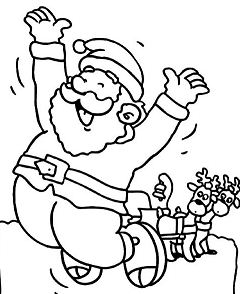 A Santa Claus Jumping Happily To Welcome Christmas Day