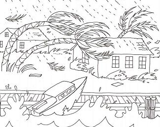 A Severe Weather Coloring Page