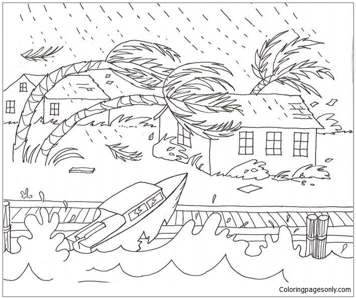 A severe weather coloring page free coloring pages online for Weather coloring pages