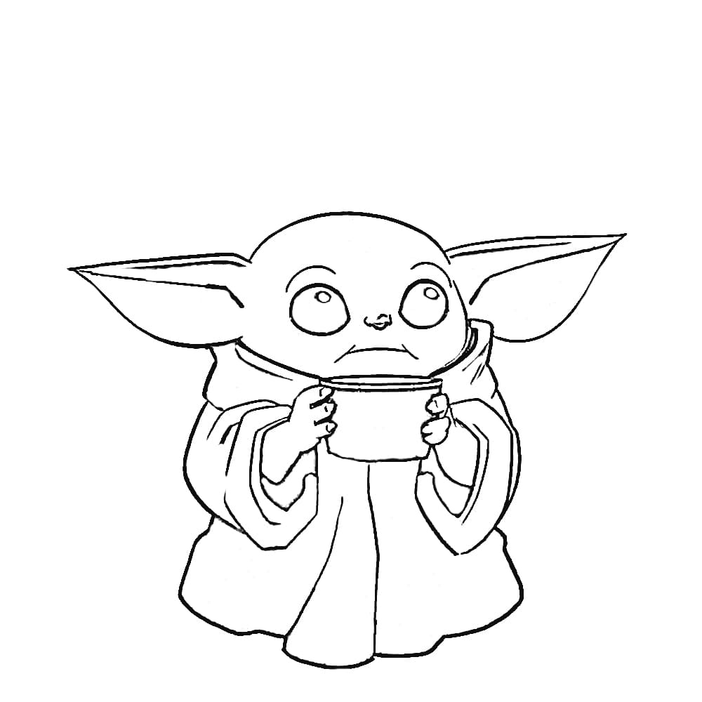 A little yoda Coloring Pages