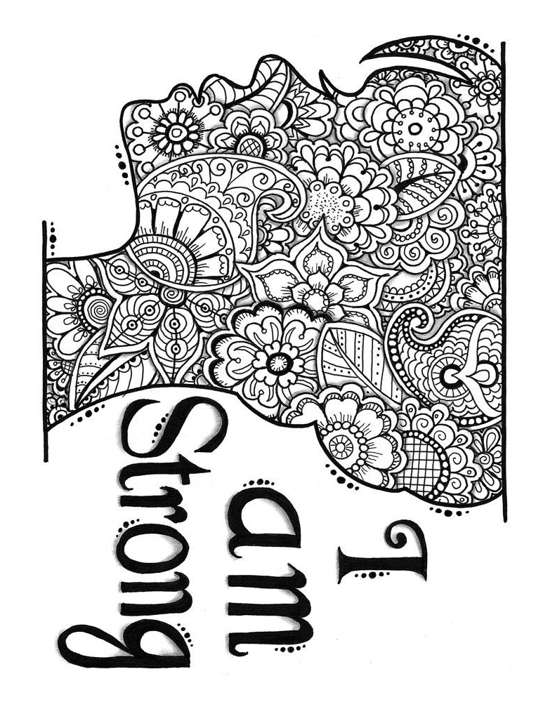 A Strong Girl Coloring Page