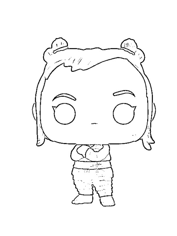 A swift and intelligent toddler Noi from Talon Land Kumandra Coloring Page
