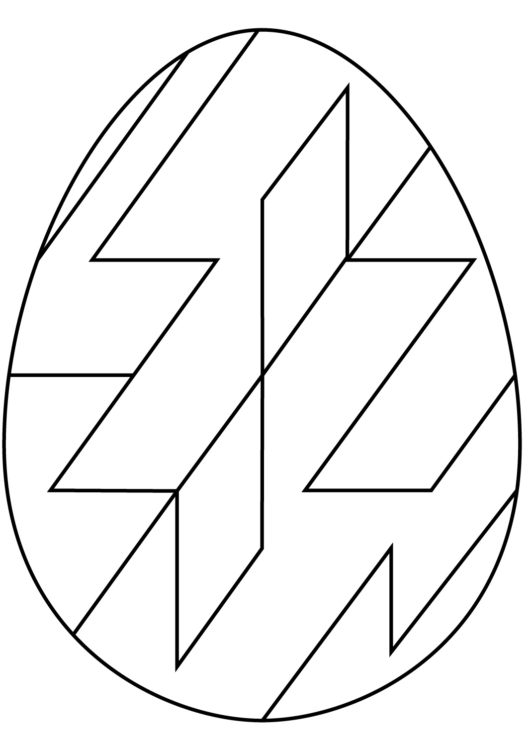 Abstract Geometric Pattern Easter Egg