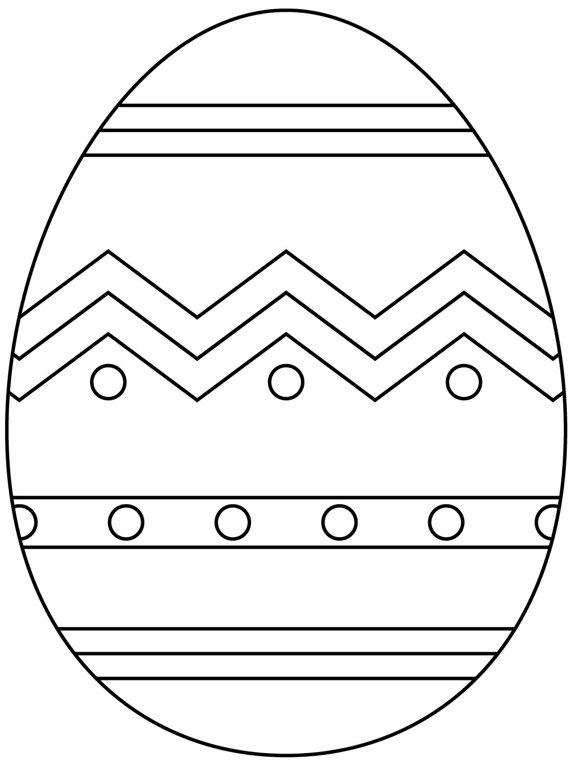 Abstract Cross Coloring Pages : Religious themed easter egg coloring page free