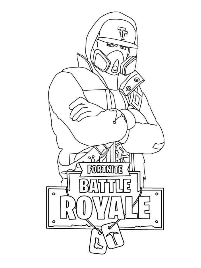 Abstrakt is the male counterpart of the Teknique skin from Fortnite Battle Royale Coloring Page