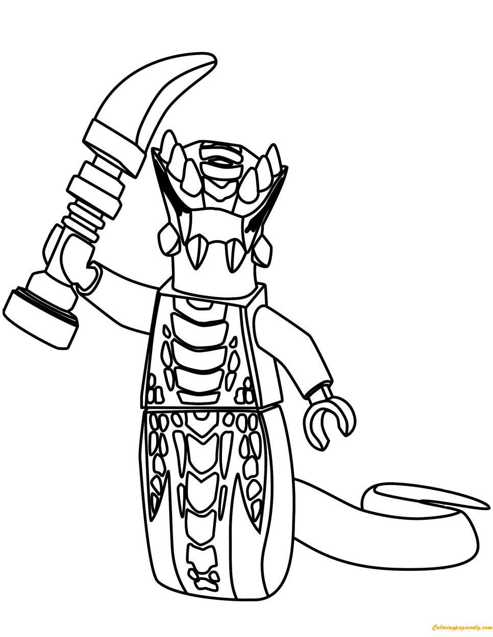 acidicus from lego ninjago coloring page  free coloring