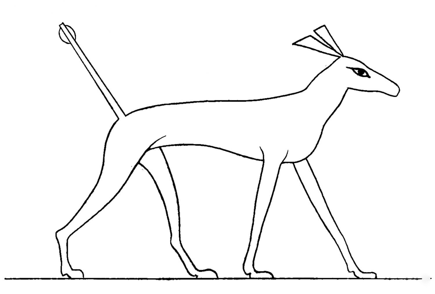 Acient Egyptian 6 Coloring Page