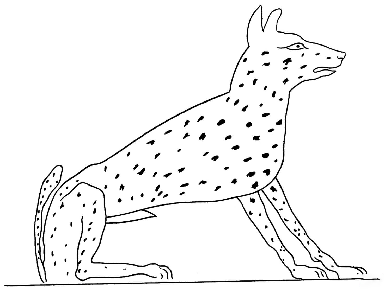 Acient Egyptian 7 Coloring Page