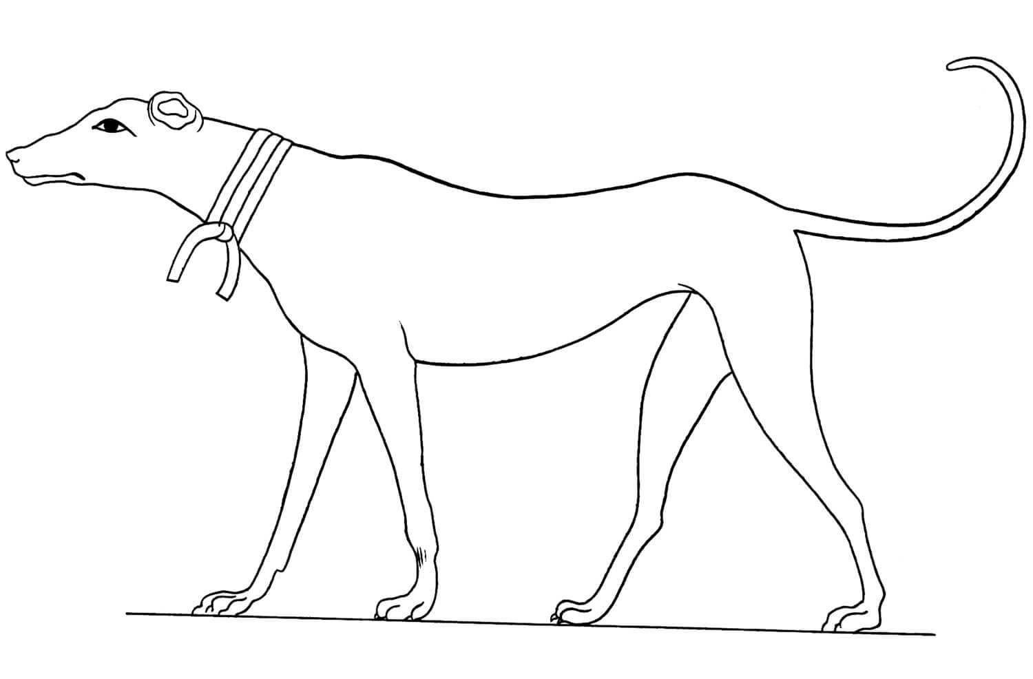 Acient Egyptian 2 Coloring Page