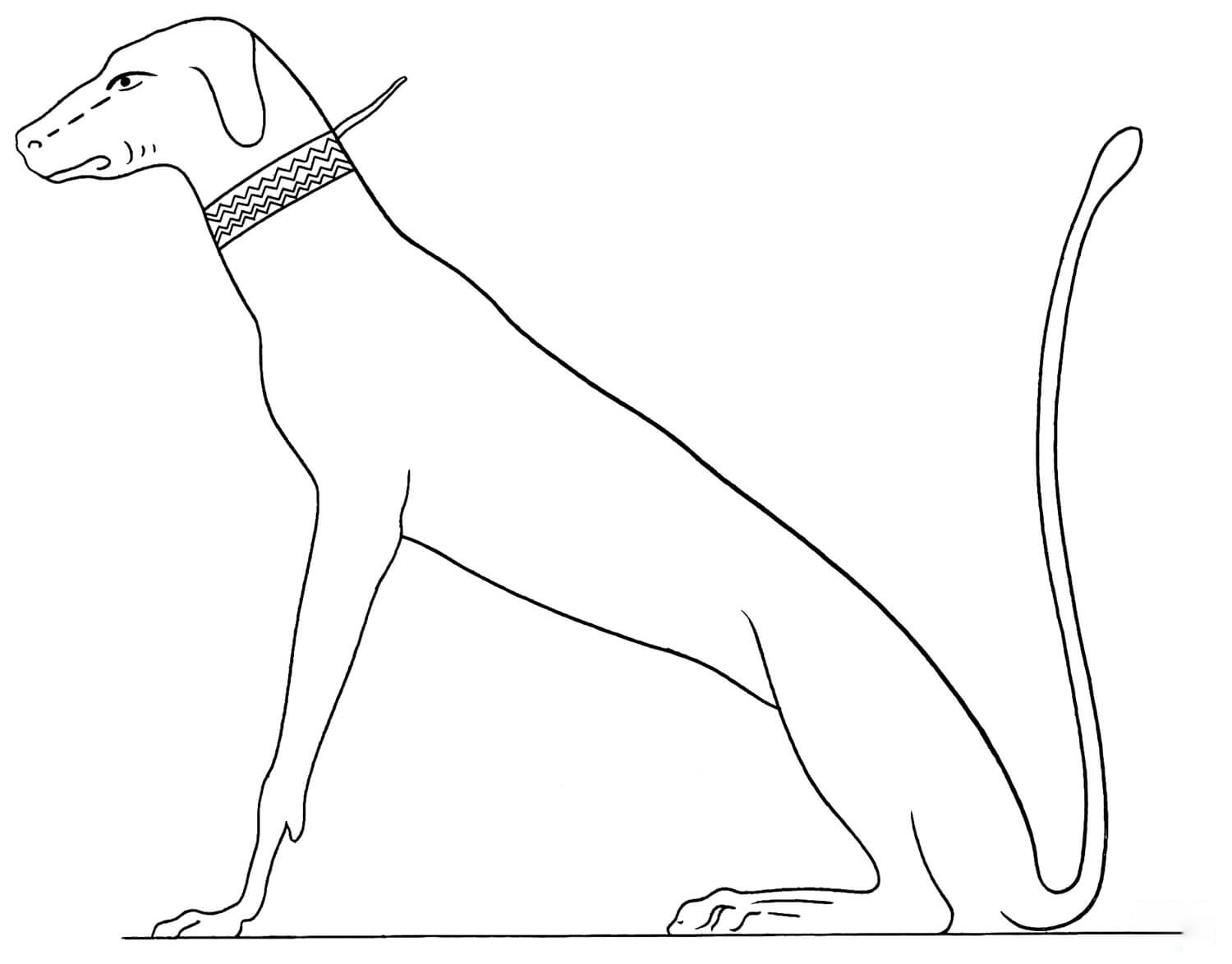 Acient Egyptian 4 Coloring Page