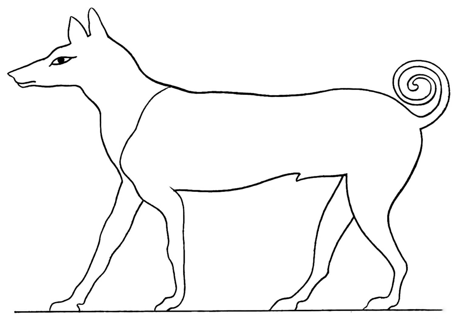 Acient Egyptian Coloring Page