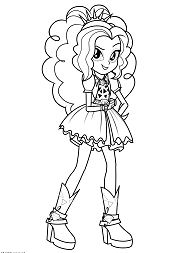 Adagio Dazzle From My Little Pony Coloring Page