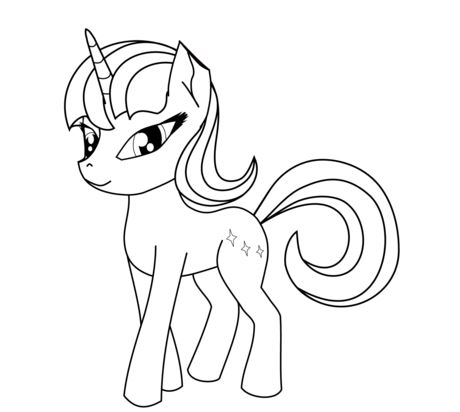 Adorable Unicorn Coloring Page