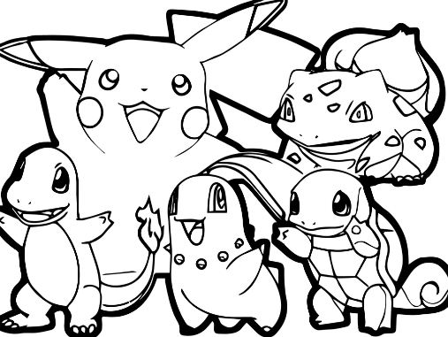 Adult Pokemon Coloring Page