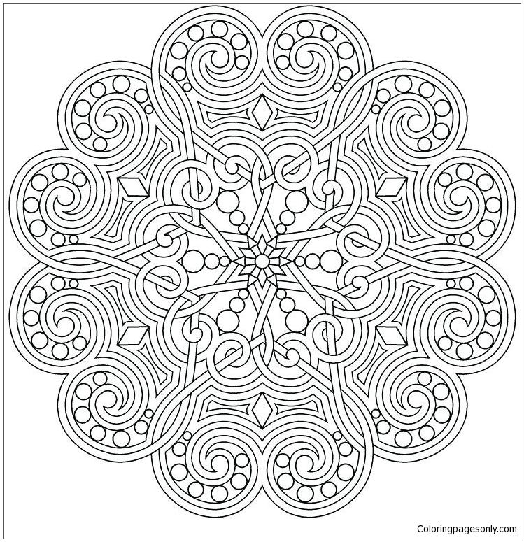 Advanced Mandala 2 Coloring Pages - Mandala Coloring Pages - Free Printable Coloring  Pages Online