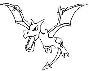 Aerodactyl Pokemon Coloring Page