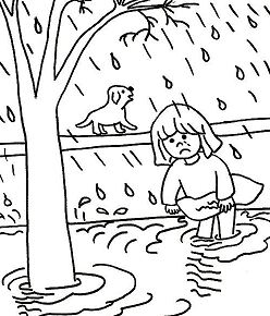After Natural Disasters Coloring Page