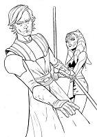 Ahsoka And Anakin Star Wars Coloring Page
