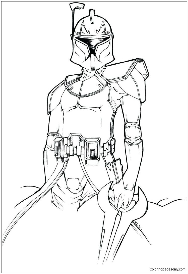 Ahsoka Tano from Star Wars Coloring Page - Free Coloring ...